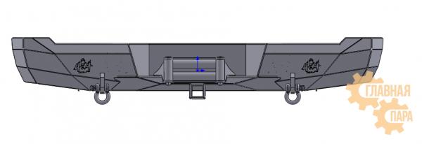Бампер задний силовой 4X4TUN на TOYOTA HILUX 2015 +